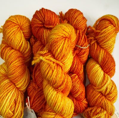 Flumps Chunky Ginger Twist Yarn Melon Balls on Fire