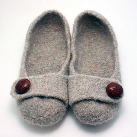 French Press Felted Slippers Pattern tribeyarns Pattern