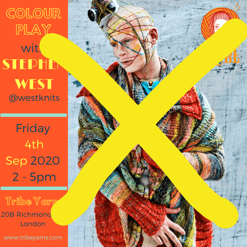 Fri 4th Sep: Colour Play with Stephen West CANCELLED