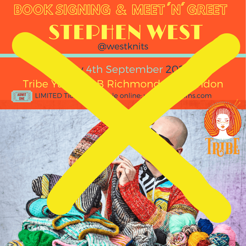 Fri 4th Sep: Meet & Greet with Stephen West CANCELLED