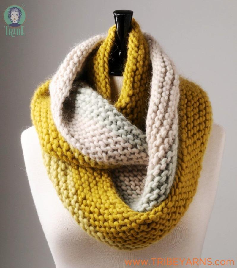 Garter Stitch Cowl Pattern Mrs Moon Knitting Pattern
