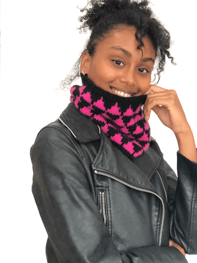 Geometric Cowl Pattern by Clinton Hill Cashmere Clinton Hill Cashmere Pattern