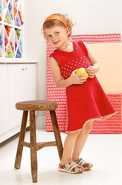Girl's Sundress Pattern Blue Sky Fibers Knitting Pattern
