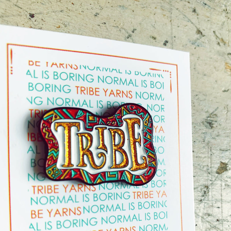 Glitter Tribe Enamel Pin Hartiful Pins & Needles
