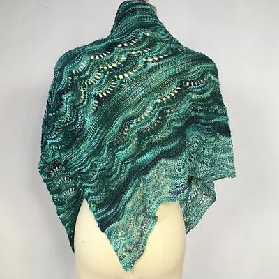 Glittery Triangle Taj Shawl Pattern Artyarns Pattern