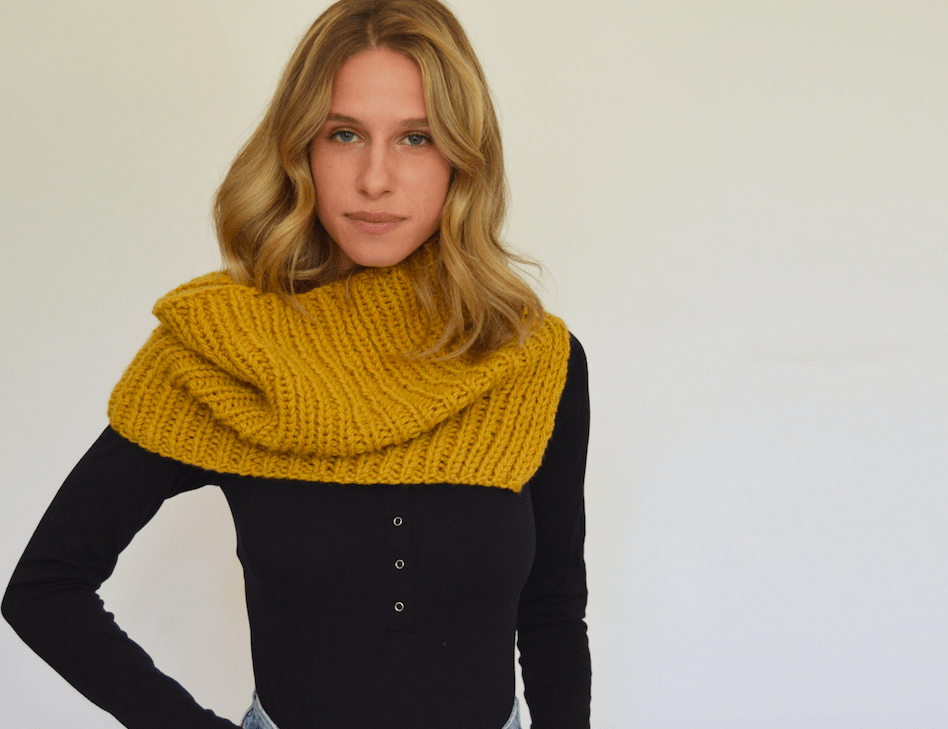 Gold Street Cowl Pattern by Clinton Hill Cashmere Clinton Hill Cashmere Pattern