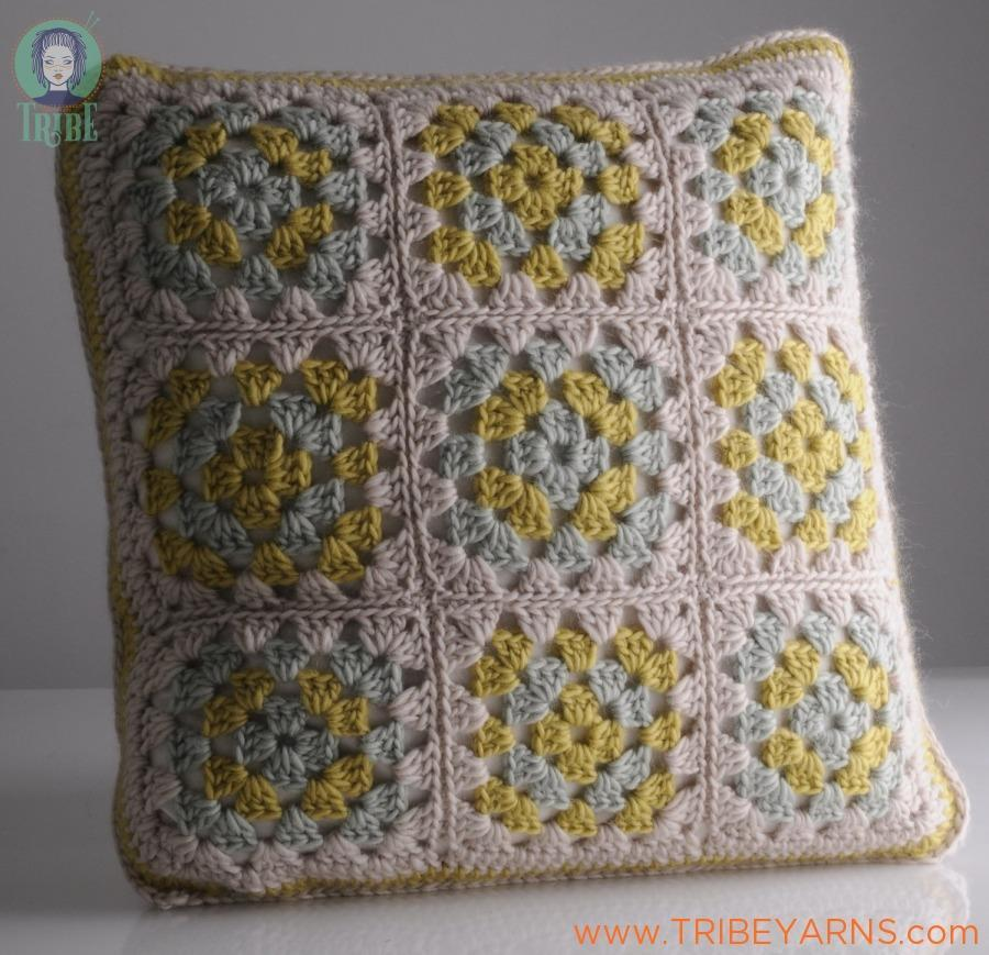 Granny Cushion CROCHET Pattern Mrs Moon Pattern