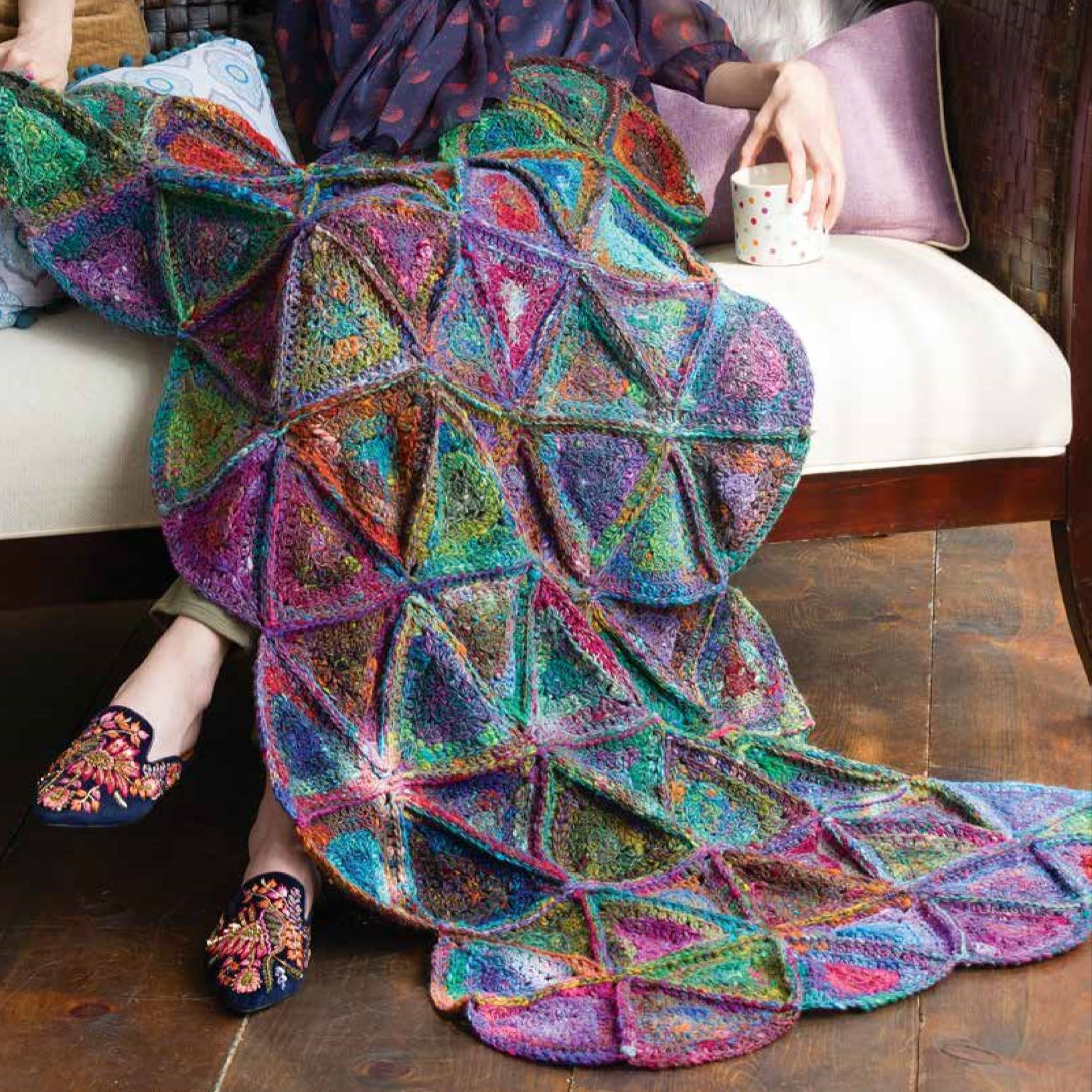 Granny Quilt Afghan Crochet Pattern by Noro Noro Pattern