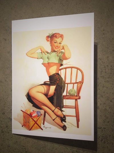 Greetings Card tribeyarns Gift Card Pin-Up