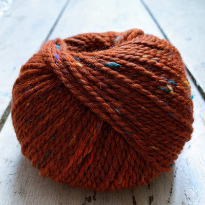 Hamelton Tweed 1 BC Garn Yarn 10 Red Orange