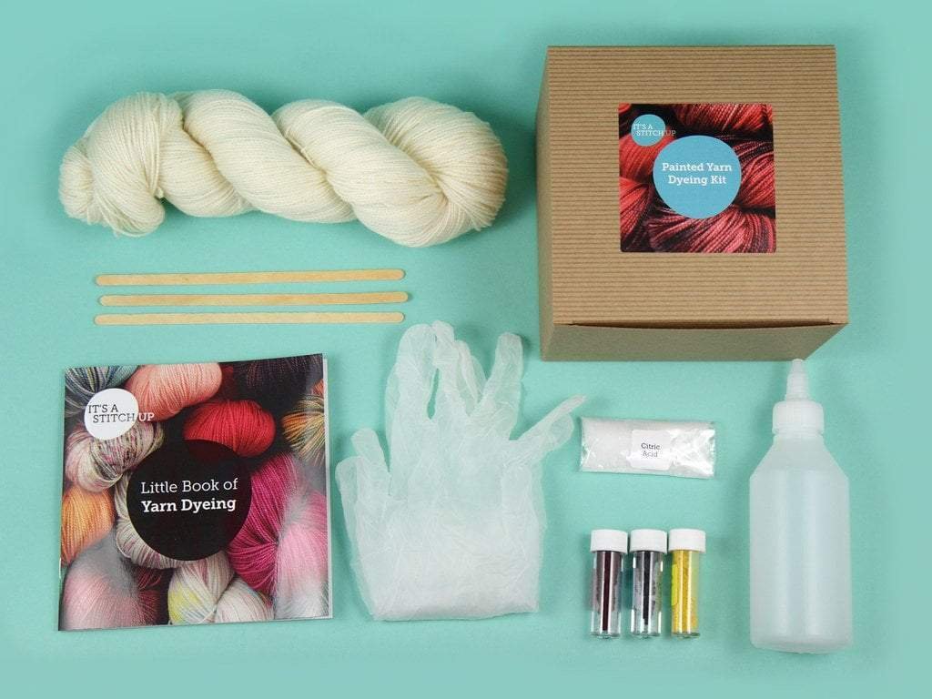Hand-Painted Yarn Dyeing Kit - Mini Skeins It's A Stitch Up Other Stuff
