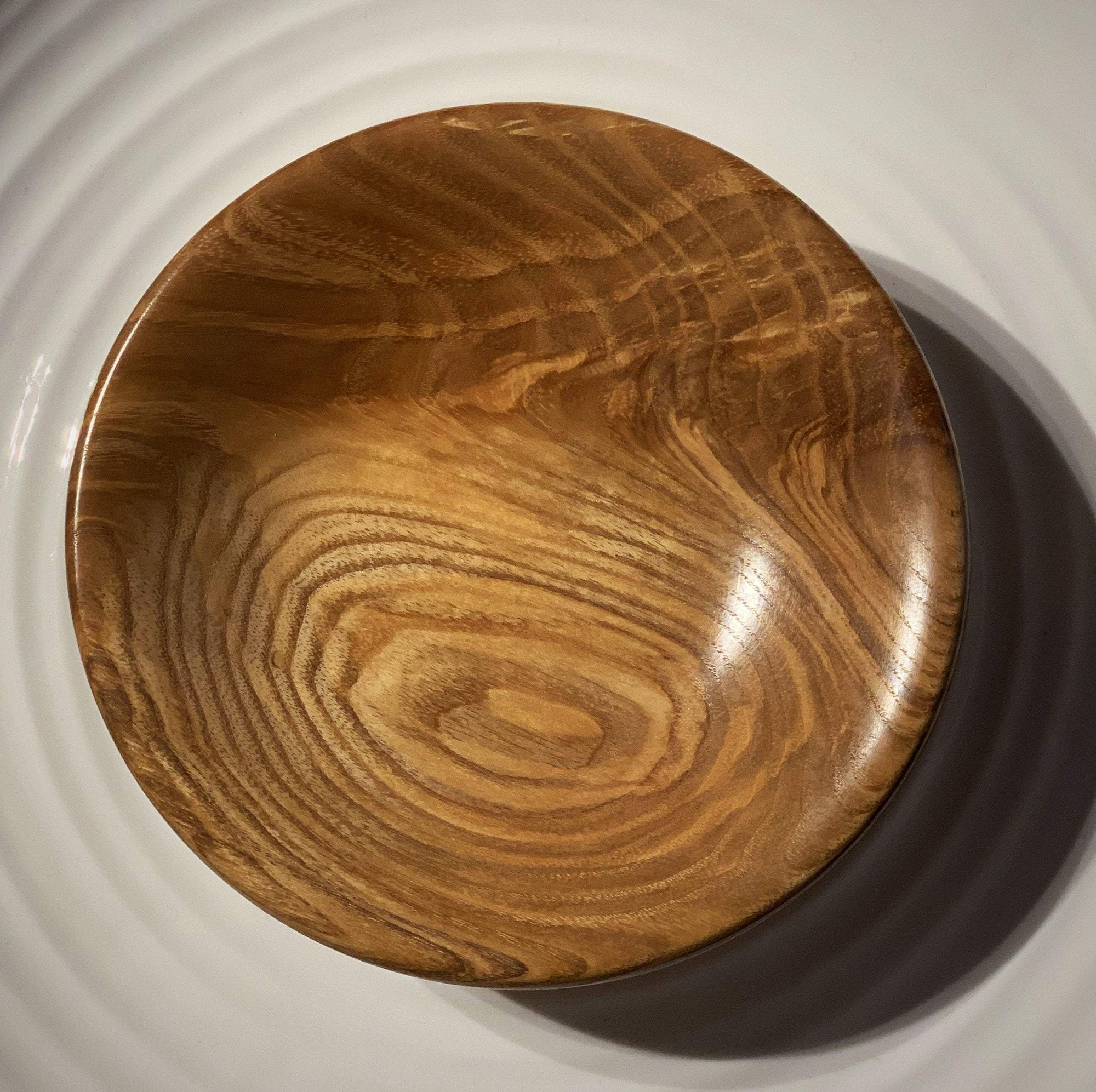 Hand-Turned Wooden Magnetic Bowl - Ash tribeyarns Other Stuff