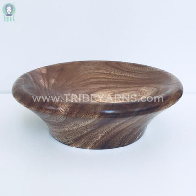 Hand-Turned Wooden Magnetic Bowl - Elm tribeyarns Other Stuff
