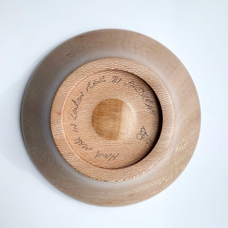 Hand-Turned Wooden Magnetic Bowl - London Plane (Lacewood) tribeyarns Other Stuff