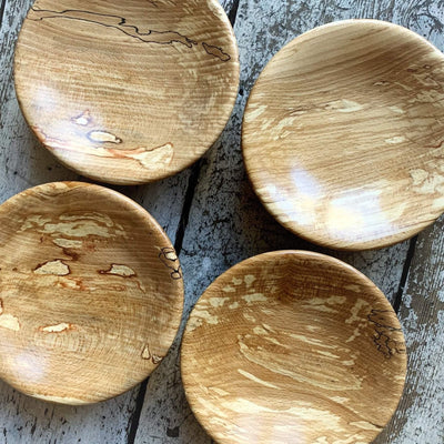 Hand-Turned Wooden Magnetic Bowl - Spalted Beech tribeyarns Other Stuff