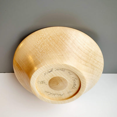 Hand-Turned Wooden Magnetic Bowl - Sycamore tribeyarns Other Stuff