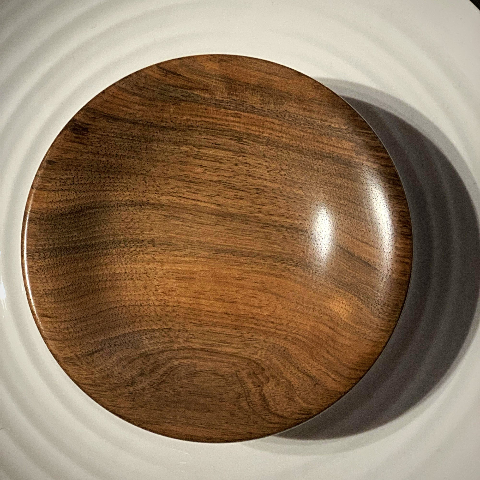 Hand-Turned Wooden Magnetic Bowl - Walnut tribeyarns Other Stuff