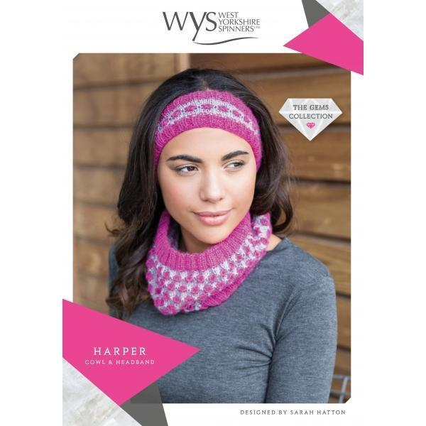 Harper Cowl & Headband Pattern West Yorkshire Spinners Knitting Pattern