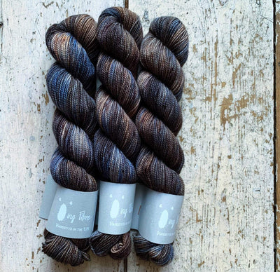 High Twist BFL Minis Qing Fibre Yarn Bluefinch
