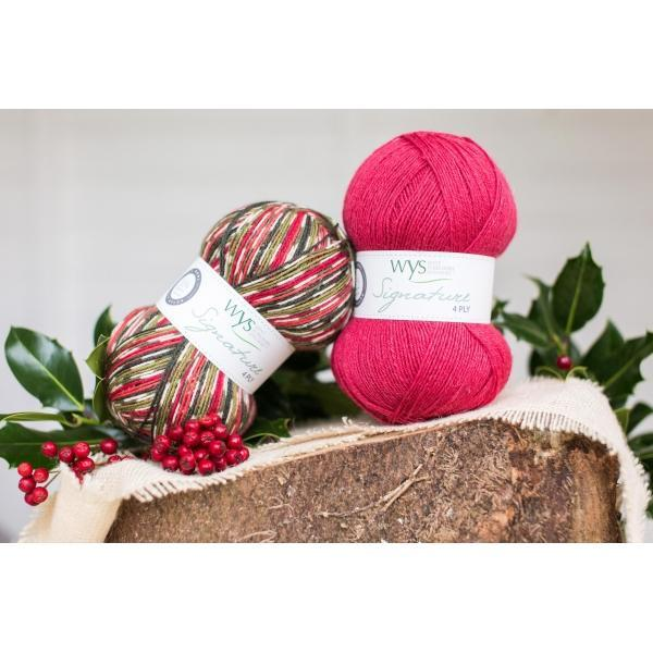 Holly Berry 4Ply Christmas Sock Yarn West Yorkshire Spinners Yarn
