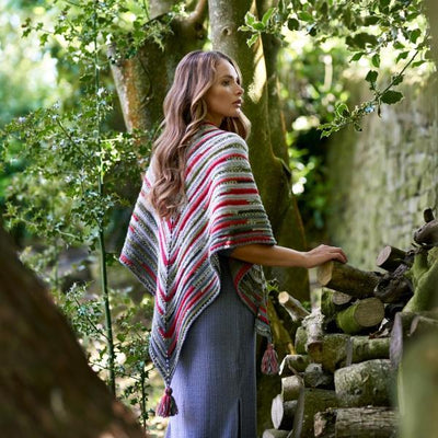 Holly Berry Shawl Crochet Pattern West Yorkshire Spinners Pattern