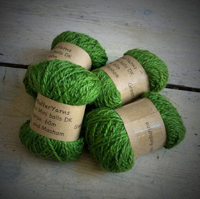 Hot Butter Mini DK Bundle Hot Butter Yarns Yarn Green Aventurine HB