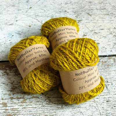 Hot Butter Mini DK Bundle Trava & Wool Yarn Amber HB