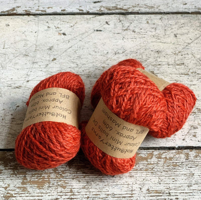 Hot Butter Mini DK Bundle Trava & Wool Yarn Carnelian HB