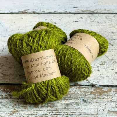 Hot Butter Mini DK Bundle Trava & Wool Yarn Nephrite HB