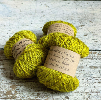 Hot Butter Mini DK Bundle Trava & Wool Yarn Peridot HB