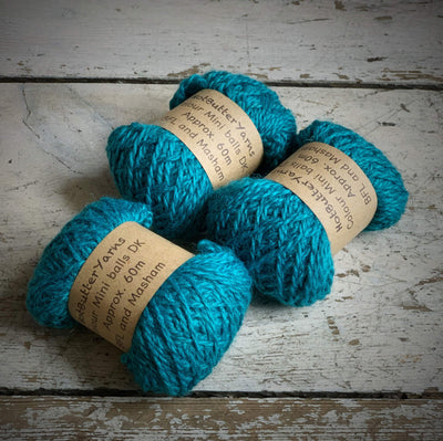 Hot Butter Mini DK Bundle Trava & Wool Yarn Tourmaline HB