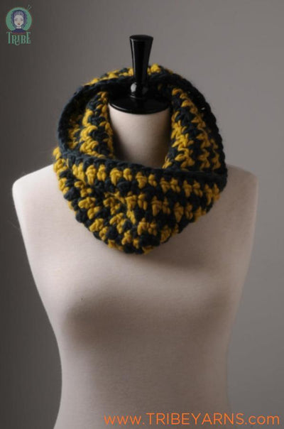 Houndstooth Cowl CROCHET Pattern Mrs Moon Pattern