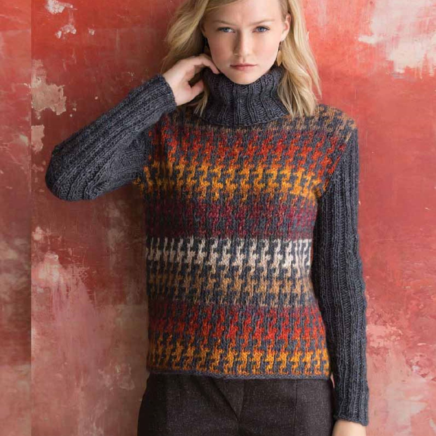Houndstooth Pullover Pattern by Noro Noro Pattern