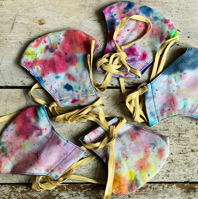 Ice Dyed Face Masks & Bags Jillybean Yarns Other Stuff Adult / Light