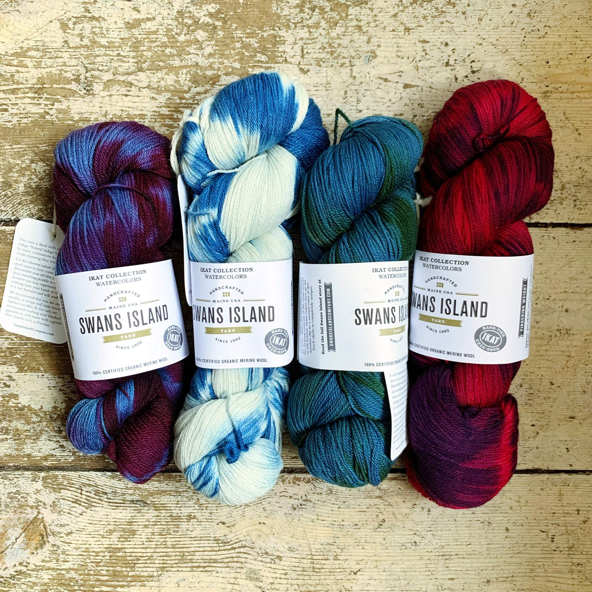 Ikat Watercolours Swans Island Yarn