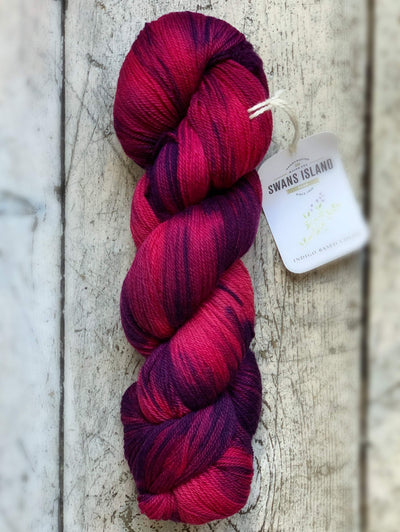 Ikat Watercolours Swans Island Yarn Beetroot-Garnet Ikat