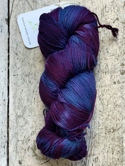 Ikat Watercolours Swans Island Yarn Indigo-Beetroot Ikat