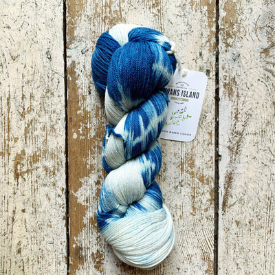 Ikat Watercolours Swans Island Yarn Indigo-Natural Ikat