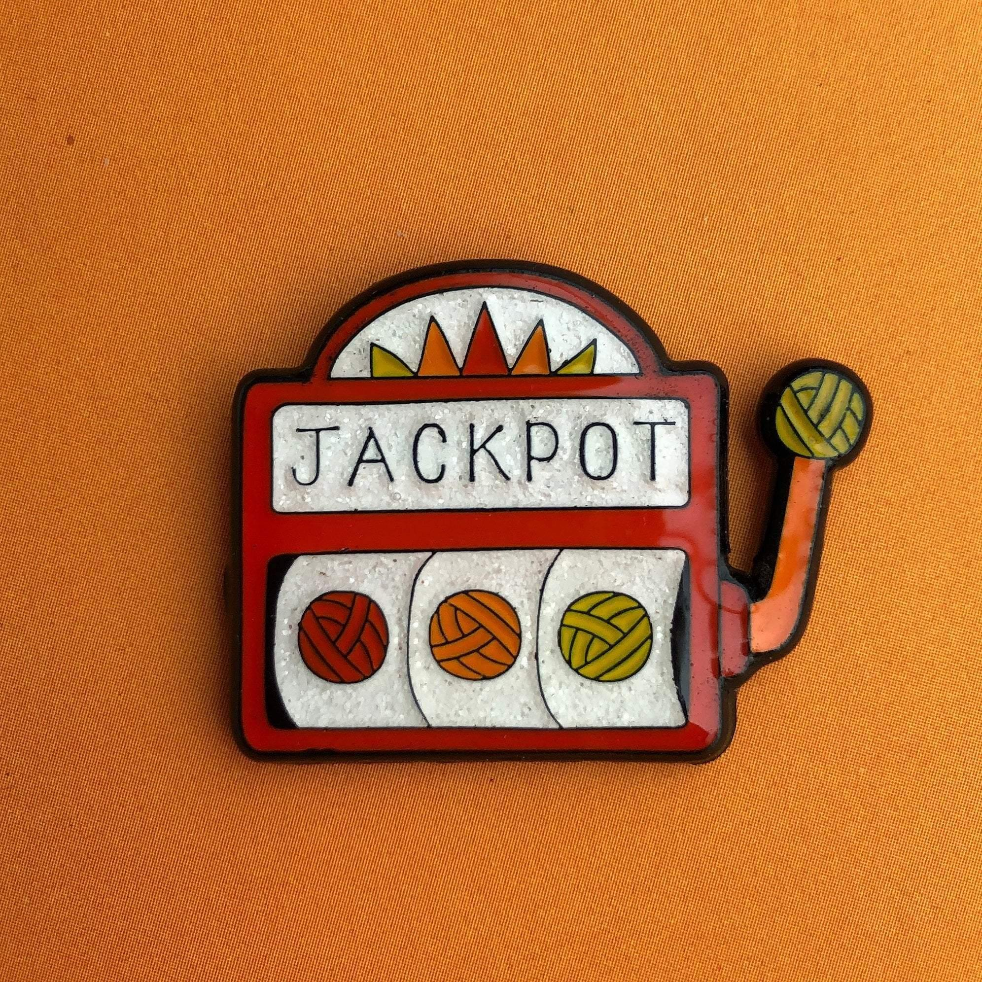 Jackpot Enamel Pin Badge Sue Stratford Pins & Needles