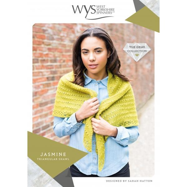 Jasmine Triangular Shawl Pattern West Yorkshire Spinners Knitting Pattern