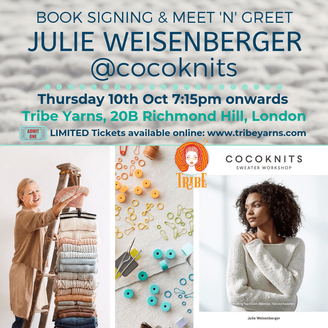 Julie Weisenberger Meet & Greet: Thu 10th Oct tribeyarns Event