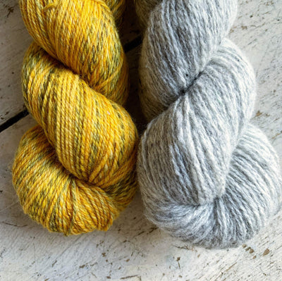 Junction Sweater Kit tribeyarns Kits & Combos 1 / Goldenticket+LightGrey