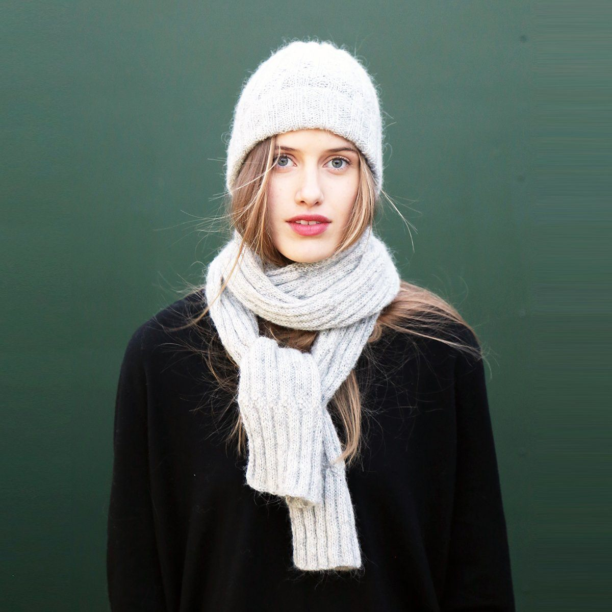 KBG 08 Hat & Scarf Pattern einrum Knitting Pattern