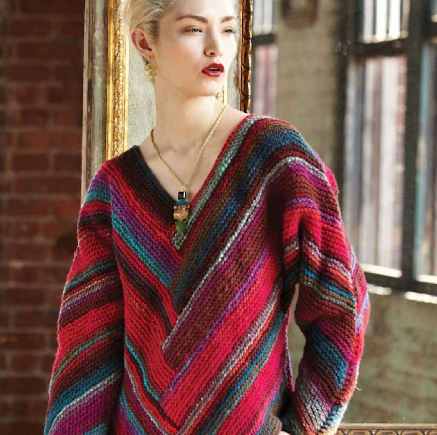 Kimono-Sleeved Pullover Pattern by Noro Noro Pattern
