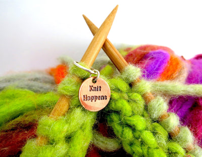 """Knit Happens"" Stitch Markers Set FizzCat Stitch Markers & Row Counters"