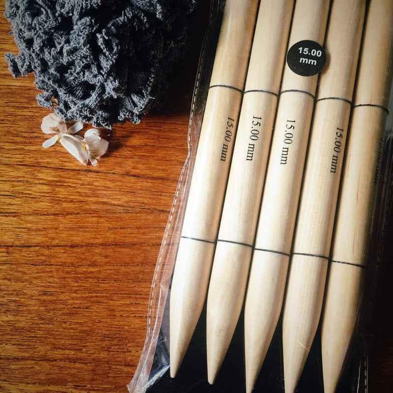 KnitPro Jumbo Birch DPNs KnitPro Knitting Needles