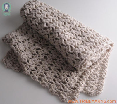 Lacy Scarf CROCHET Pattern Mrs Moon Pattern