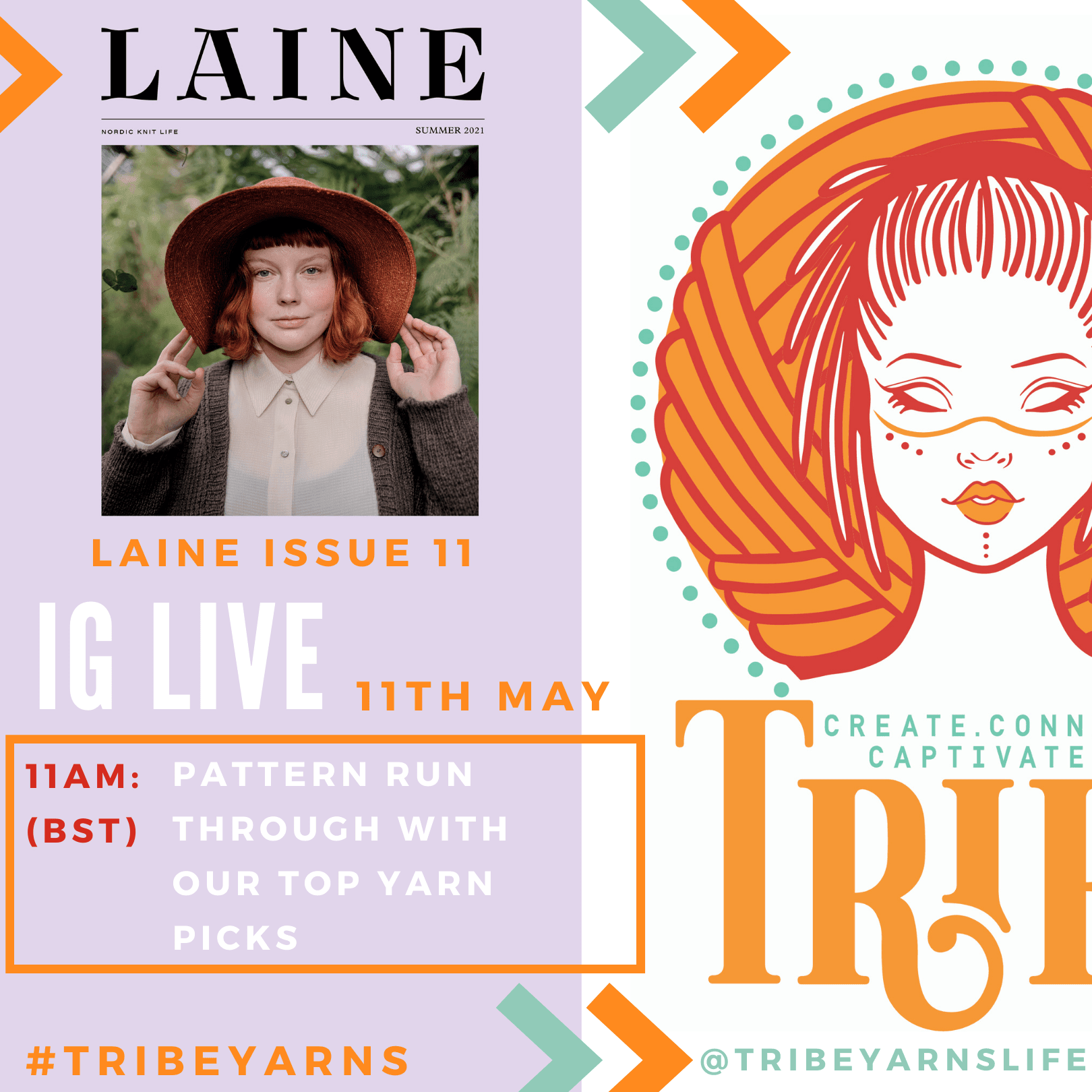 Laine Issue 11 - Instagram Live! tribeyarns Event