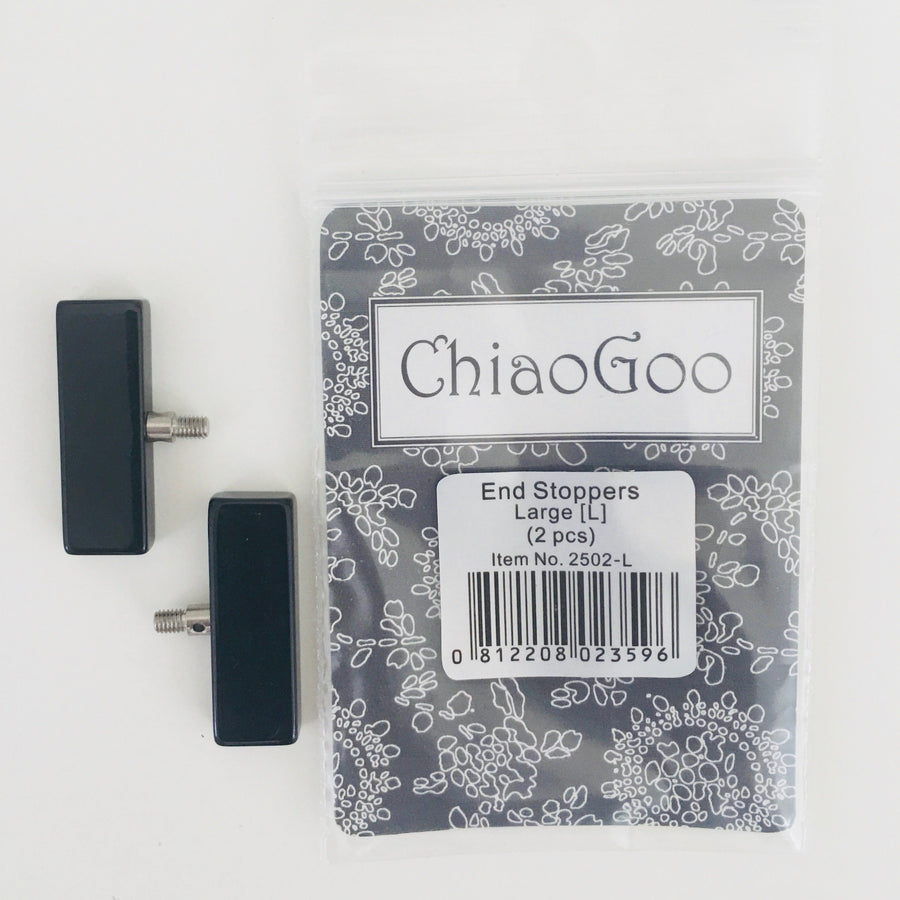 Large End Stoppers ChiaoGoo Knitting Needles