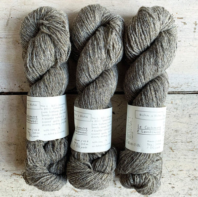 Le Cashmere & Lambswool Biches & Bûches Yarn Le Cashmere Grey Brown